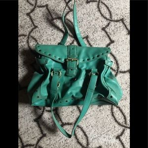Green Tommy Hilfiger Tote Style Purse